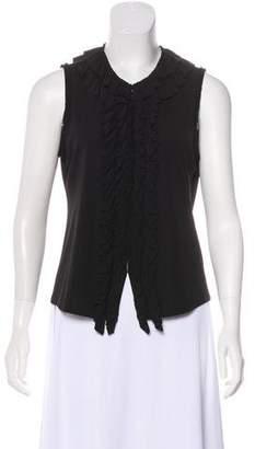 DKNY Sleeveless Ruffled Top