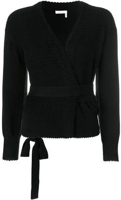 See by Chloe textured wrap cardigan