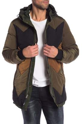 Scotch & Soda Solid & Colorblock Reversible Insulated Parka Jacket