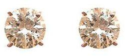 Dillard's sterling collection 10mm cz stud earrings