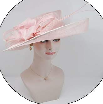 91bd86aa94b Church s ray danile Kentucky Derby Carriage Tea Party Wedding Wide Brim  Woman s Royal Ascot Hat in Solid