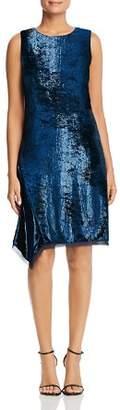 Elie Tahari Serenity Metallic Velvet Dress