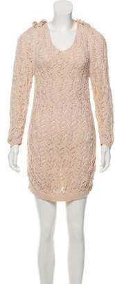 Nina Ricci Silk-Blend Knit Dress
