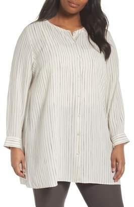 Eileen Fisher Striped Silk Shirt