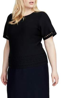 Rachel Roy Cutout Knit Top