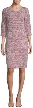 St. John Women's Wool-Blend Textured Sheath Dress