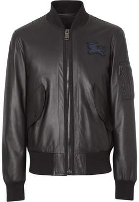 Burberry EKD Logo Lambskin Bomber Jacket