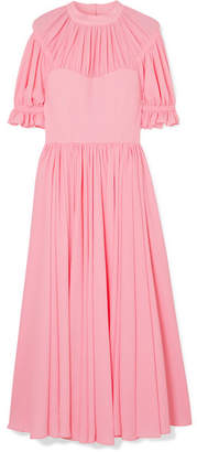 Emilia Wickstead Philly Pleated Cloqué Midi Dress - Baby pink