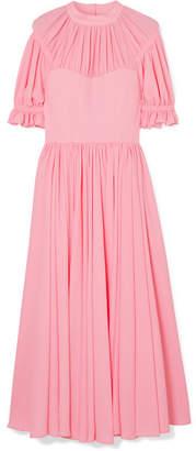 Emilia Wickstead Philly Pleated Cloqué Midi Dress - Baby pink