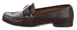 Salvatore Ferragamo Leather Square-Toe Loafers