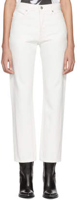 Helmut Lang White Crop Straight Jeans