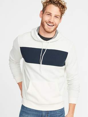 Old Navy Color-Blocked Thermal-Knit Pullover Hoodie for Men