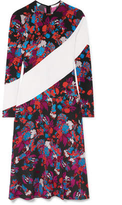 Givenchy Silk-trimmed Floral-print Crepe Midi Dress