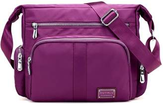 PILER Women's Crossbody Bag Casual Waterproof Nylon Crossbody Shoulder Bag Multi Pockets Handbag Purse