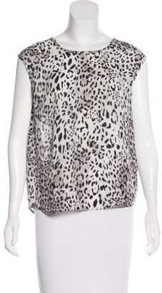 Joie Silk Leopard Print Top