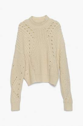 Genuine People Chunky Wool Knit Turtleneck Sweater