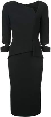 Roland Mouret asymmetric neck midi dress