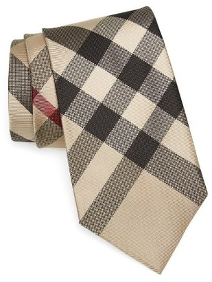 Men's Burberry Clinton Check Silk Tie $190 thestylecure.com