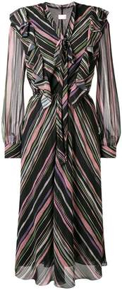 Giamba striped midi dress