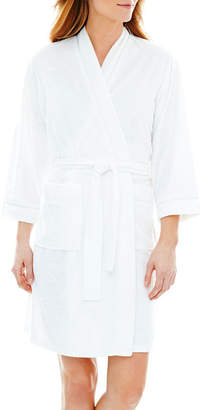 JCPenney Earth Angels 3/4-Sleeve Short Wrap Robe