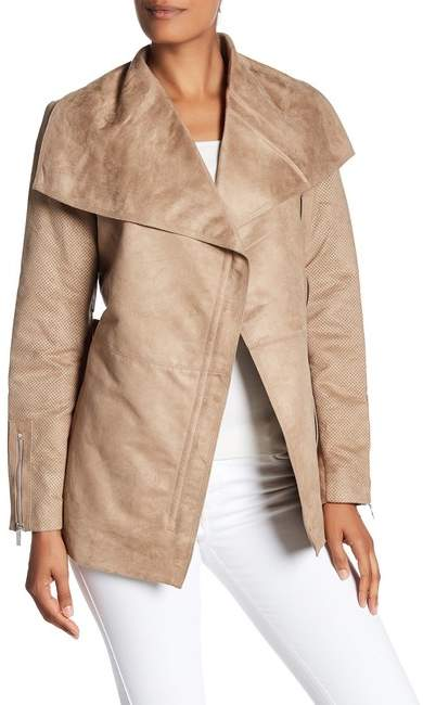 Laundry by Shelli Segal Short Wrap Trench Coat