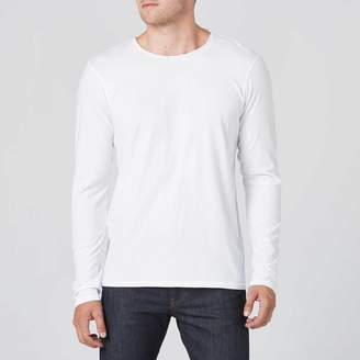 DSTLD Long Sleeve Modern Crew Neck Tee In White
