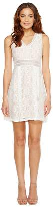 Jessica Simpson Sleeveless V-Neck Lace Dress JS7A9343 Women's Dress