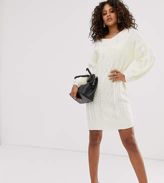 Fashion Union Tall oversized cable knit sweater dress