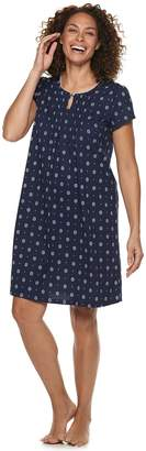 Croft & Barrow Women's Printed Pintuck Nightgown