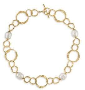 Majorica Baroque Pearl Collar Necklace
