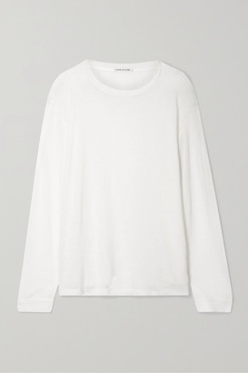 Frances de Lourdes - Marlon Slub Cashmere And Silk-blend Top - White