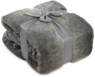 Ombra George Home Grey Faux Fur Throw