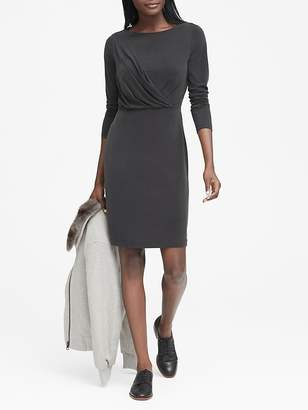 Banana Republic Sandwash Modal Twist-Front T-Shirt Dress
