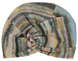 Missoni Women's Metallic Mesh-Knit Turban Hat