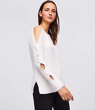 Loft Cutout Twist Sweater