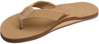 Rainbow Sandals Narrow Strap Womens US Size 7.5 Brown Flip Flops Sandals Shoes