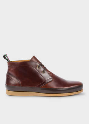 Paul Smith Men's Chocolate Brown Leather 'Cleon' Boots