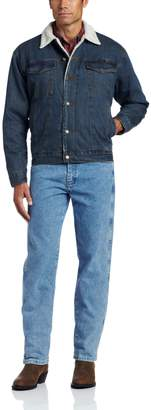 Wrangler Men's Big & Tall Western Style Lined Denim Jacket, Sherpa