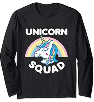 Unicorn Squad Rainbow Cute Funny Saying Long Sleeve (Dark)
