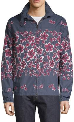 Valentino Men's Kway Floral-Print Jacket