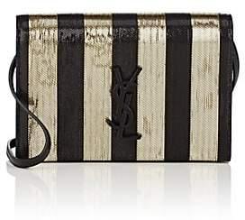 Saint Laurent Women's Monogram Kate Metallic Strap Wallet - Black