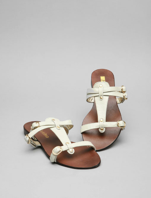 Matiko Chroma Sandal in White Patent