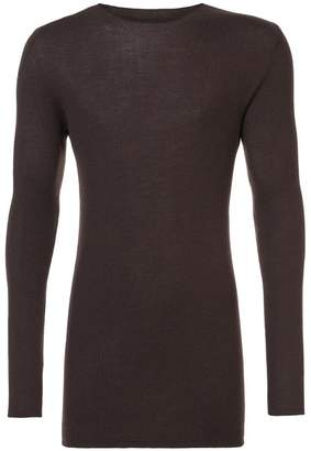 Rick Owens fitted ribbed jumper