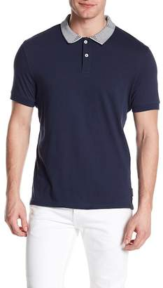 Ben Sherman Short Sleeve Intarsia Collar Polo