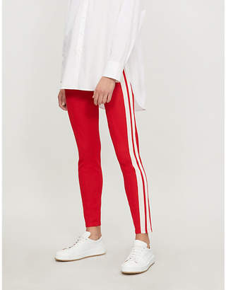 Etoile Isabel Marant Dario side-striped knitted jogging bottoms