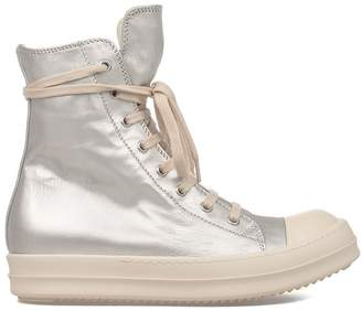 Drkshdw Silver Leather High-top Sneakers