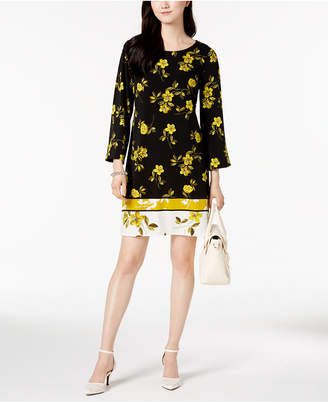 Alfani Printed A-Line Dress, Created for Macy's