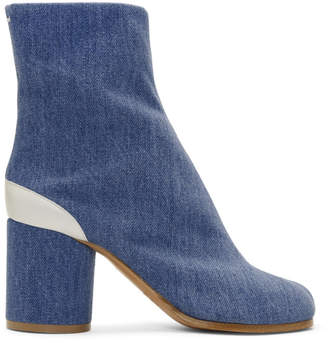 Maison Margiela Blue Denim Tabi Boots