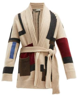BEIGE Connolly - Block Knit Cashmere Beach Cardigan - Mens