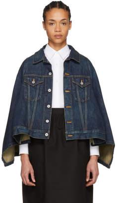 Junya Watanabe Indigo Cape Effect Denim Jacket